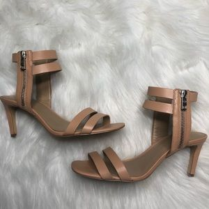 Ann Taylor Nude Leather Heels